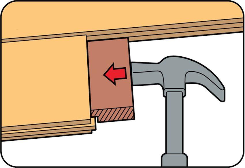 Осторожность при укладке ламината