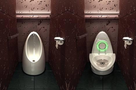 Общественный писсуар туалета.