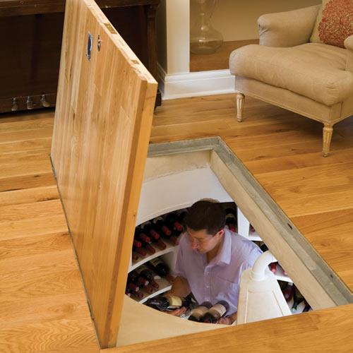 Современный вход в погреб