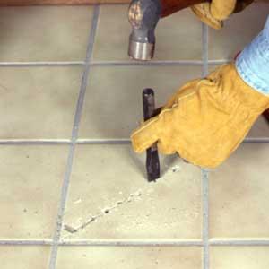 Разбитая керамическая плитка: извлечение