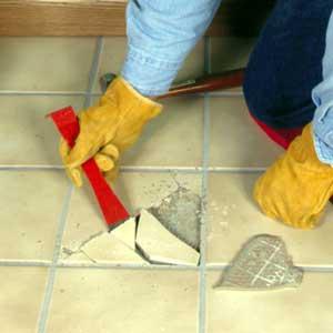 Старая керамическая плитка: удаление