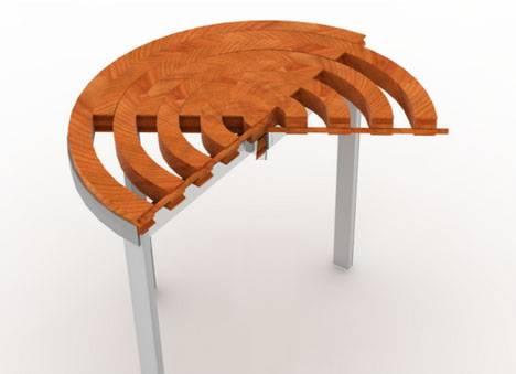 Стол трансформер из древесины