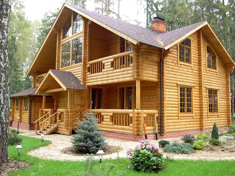 Дерево - строительство дома из дерева