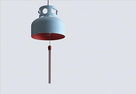 Подвесная лампа из газовой горелки