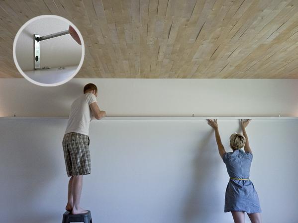 Как сделать полку во всю стену