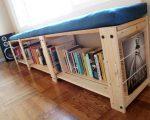 Полка-скамейка для организации цветов или книг