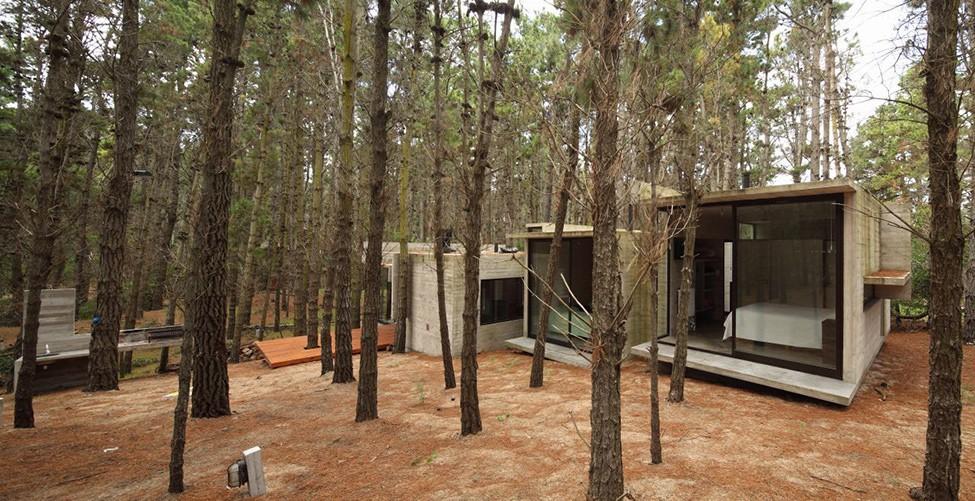 Красивый бетонный дом в лесу, Аргентина (Буэнос-Айреса)
