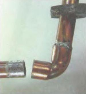 Восстановление пайки на трубе
