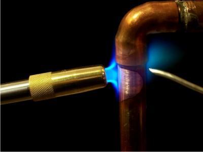 Восстановление пайки на медной трубе