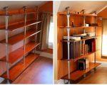 Стол, шкаф, полки и всё из стальных труб