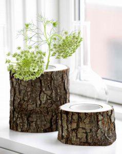 Деревянные вазы из пеньков