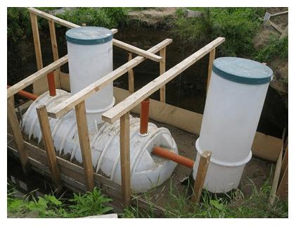 Cептик для дачи своими руками из емкости для сточных вод
