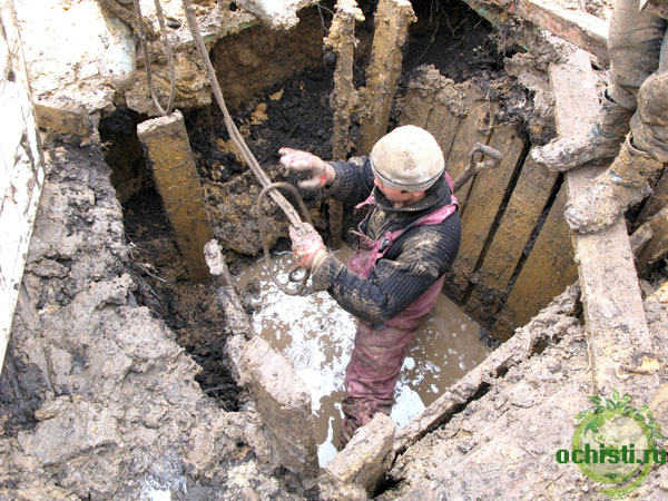 Последствия неправильного монтажа очистного сооружения Астра, Топас