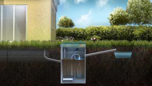 Схема отвода очищенной воды ливневую канаву