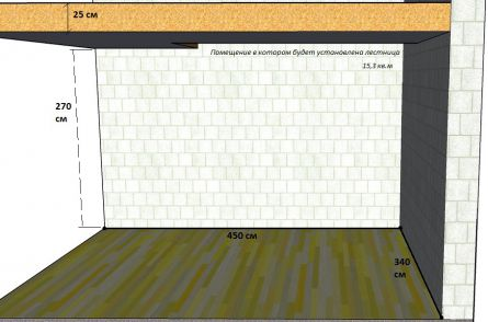 Устройство и расчёт межэтажной лестницы частного дома. Лестница Г- образной формы с промежуточной площадкой.