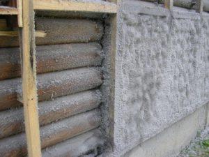 Нанесение теплоизоляции на стену 2