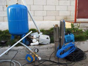 Скважинный насос, гадроаккумулятор, автоматика, трубы