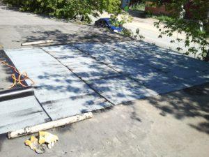 Подготовка крыши гаража