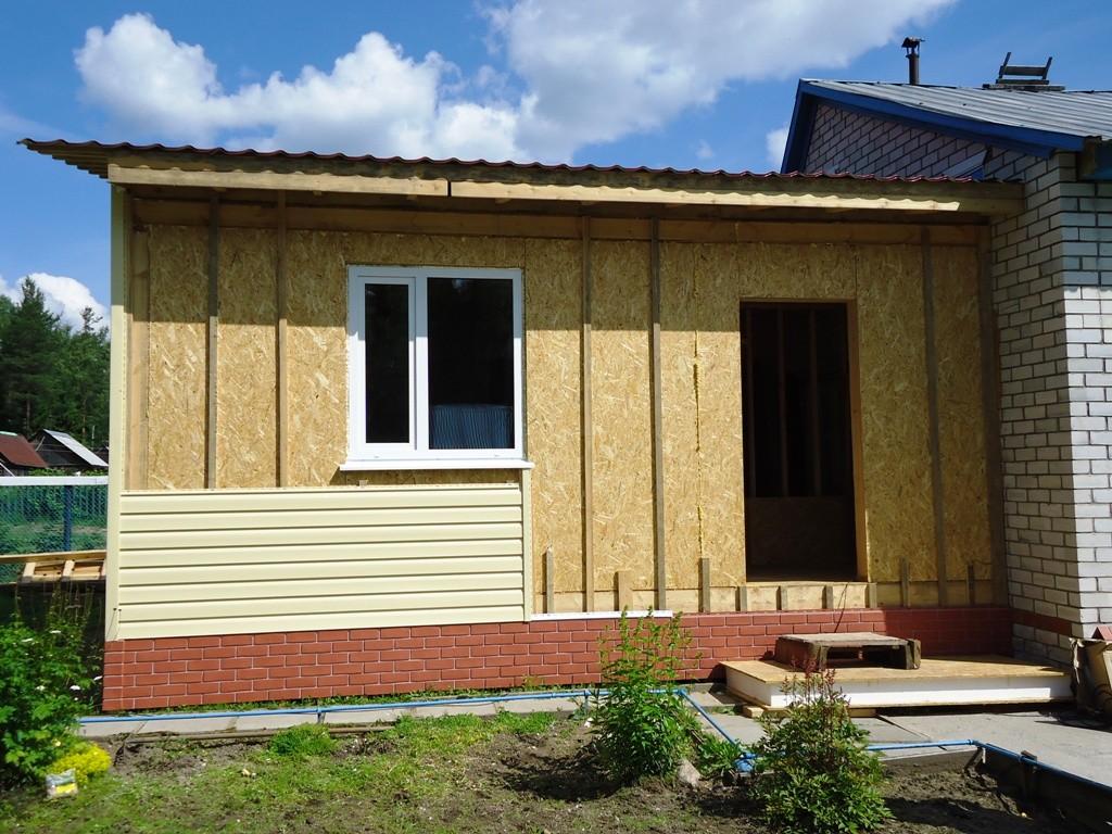 Пристрой дома деревянный