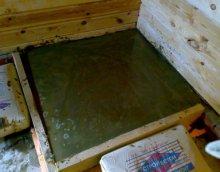 Заливка фундамента под печь