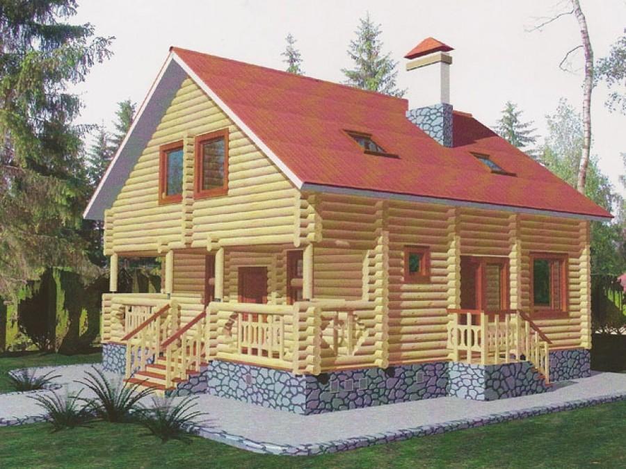 Готовые проекты и сборочные комплекты дома из калиброванного бруса.
