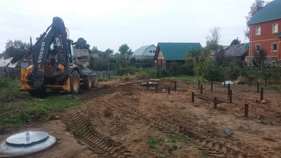 Установка септика Топас до начала строительства дома
