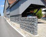 Забор из габионов с наполнителем из камня