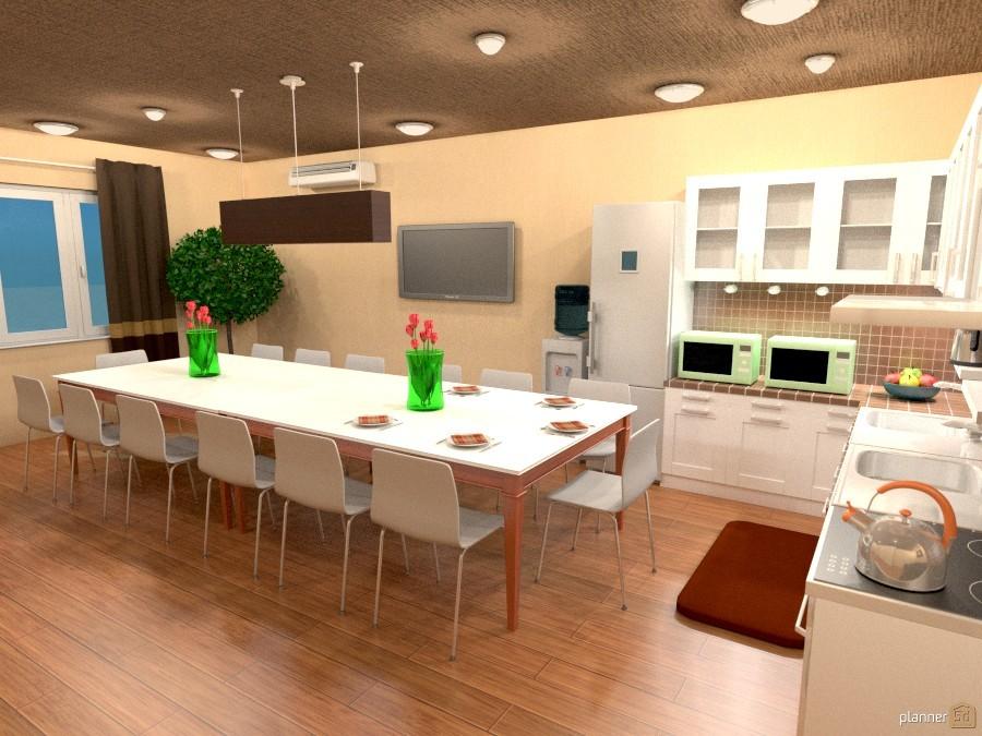 Пример дизайна кухни, созданного в Sketchup
