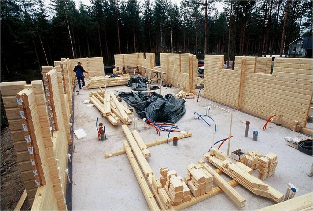 Строительство из калиброванного профилированного бруса.