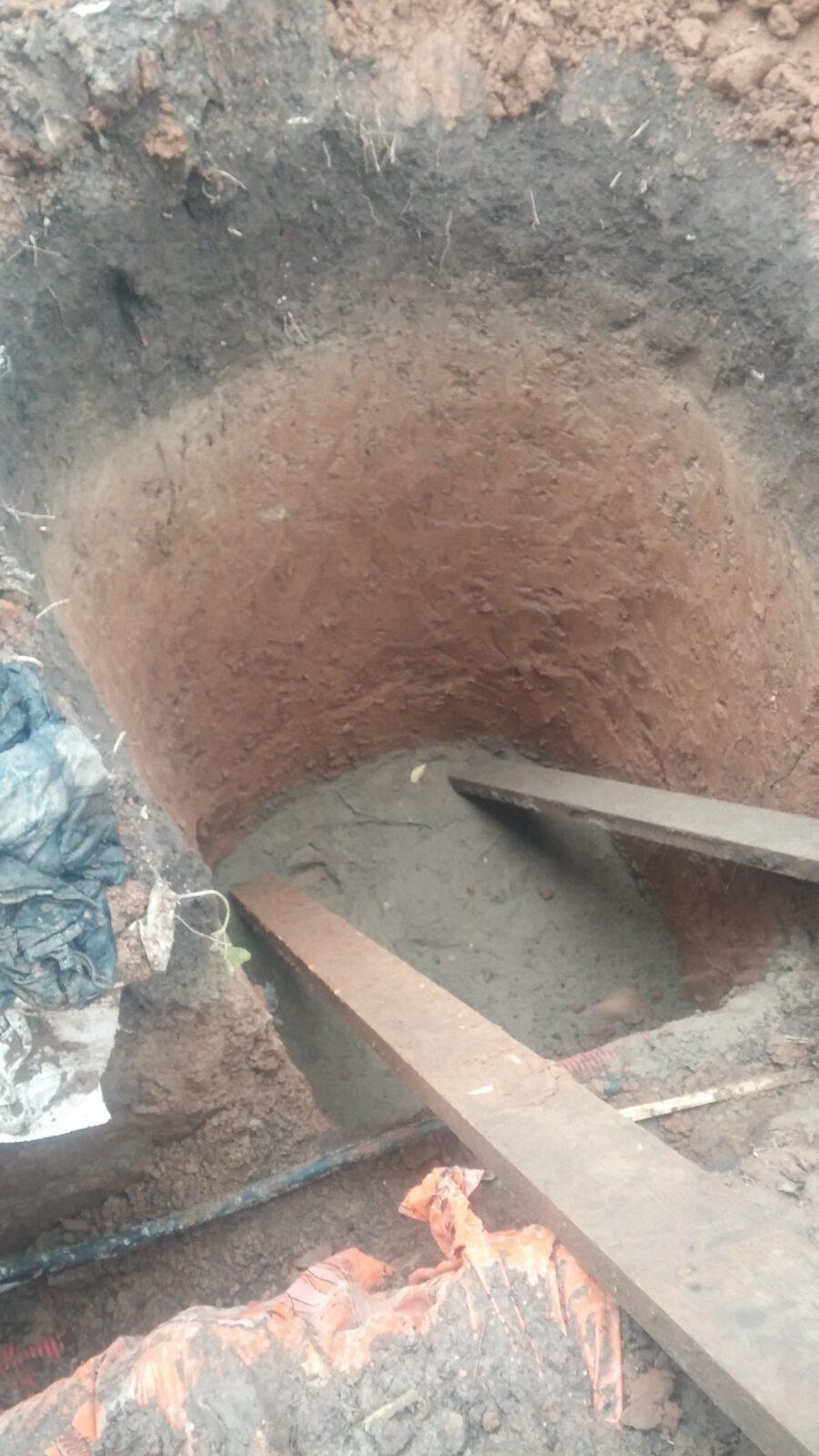 Песчаная подушка в котловане для КНС