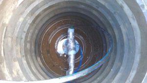 Песчано-полимерный колодец кессон