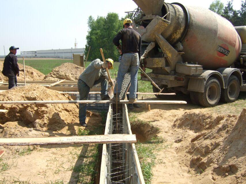 Заливка бетоном и гидроизоляция