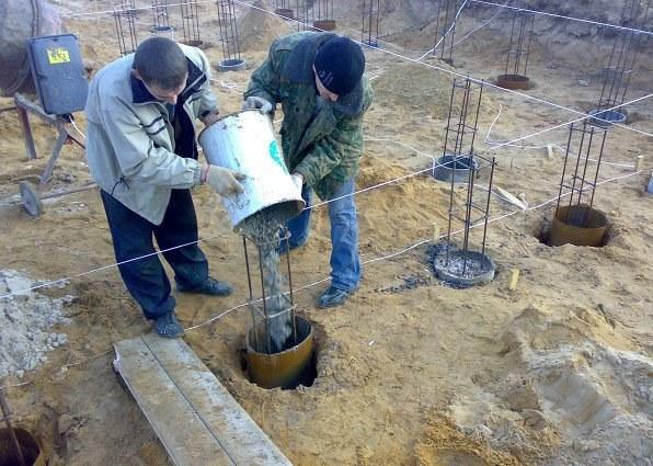 Фундамент из труб