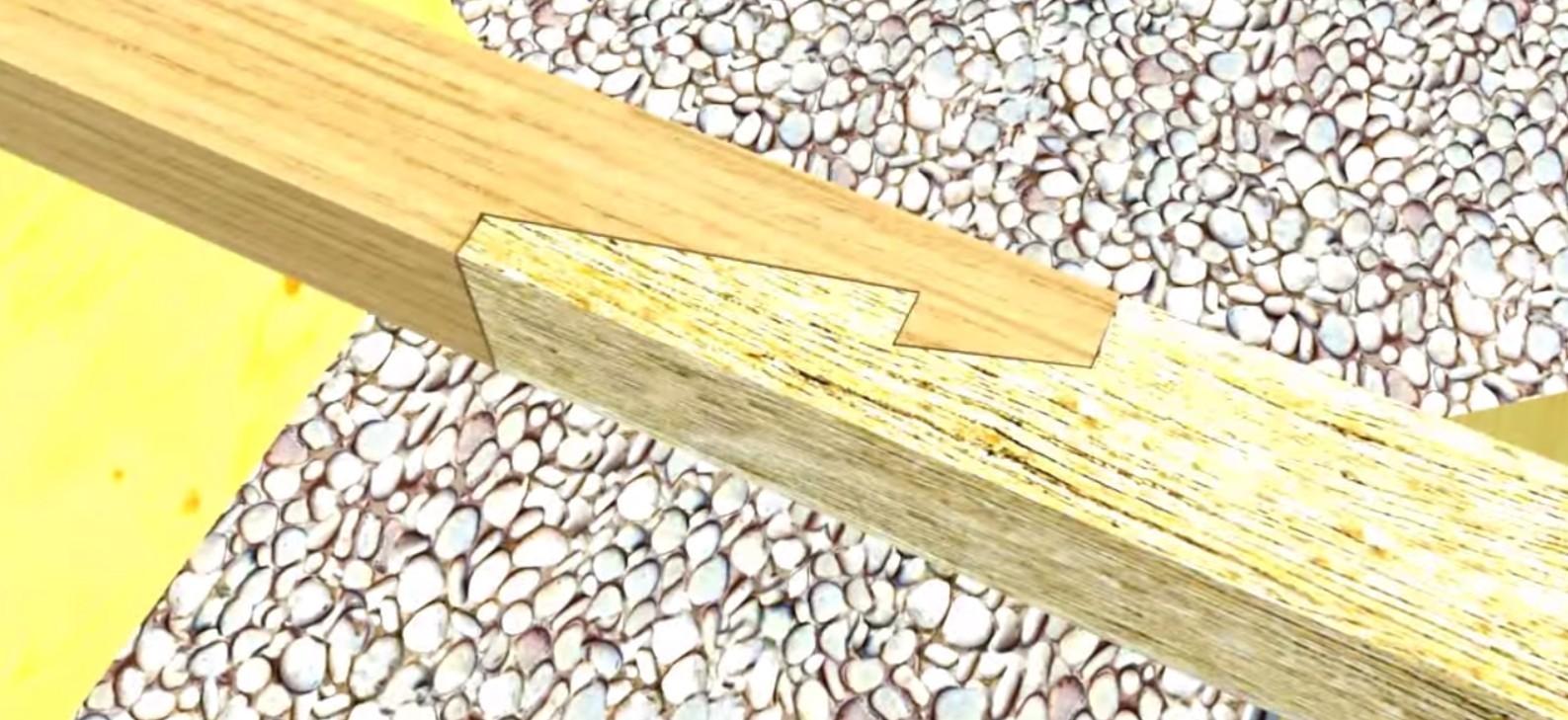 Соединение бруса в замок фото