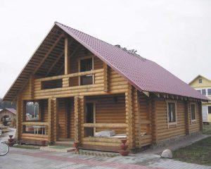 Двускатная крыша фото