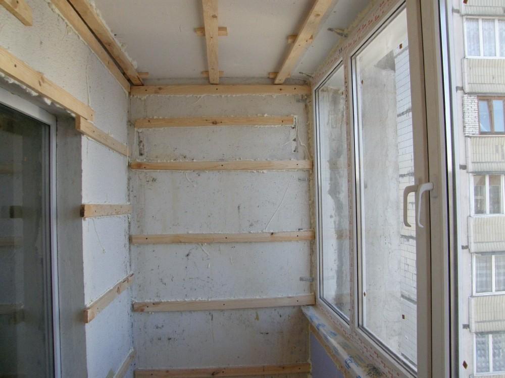 Устройство обрешетки балкона фото