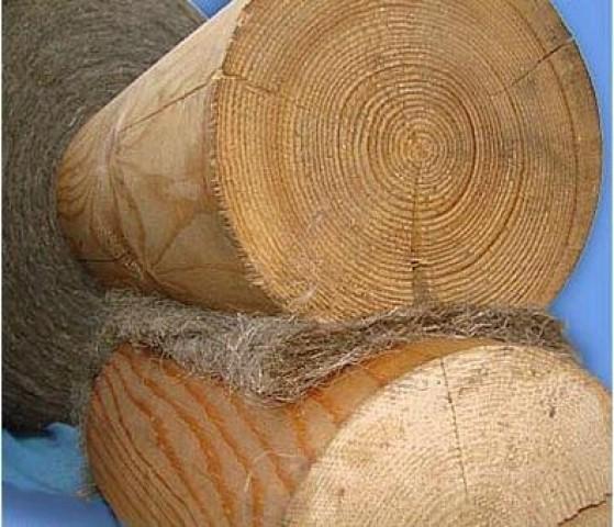межвенцовый утеплитель (джут, лен и пр.) фото