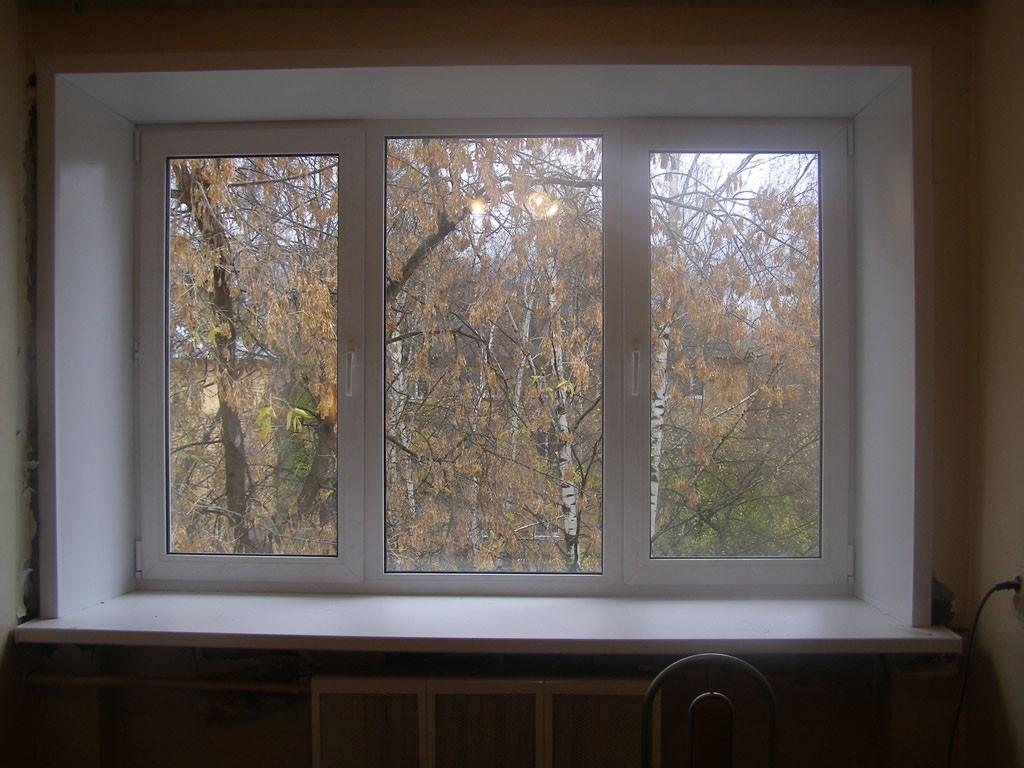 Пластиковое окно готово