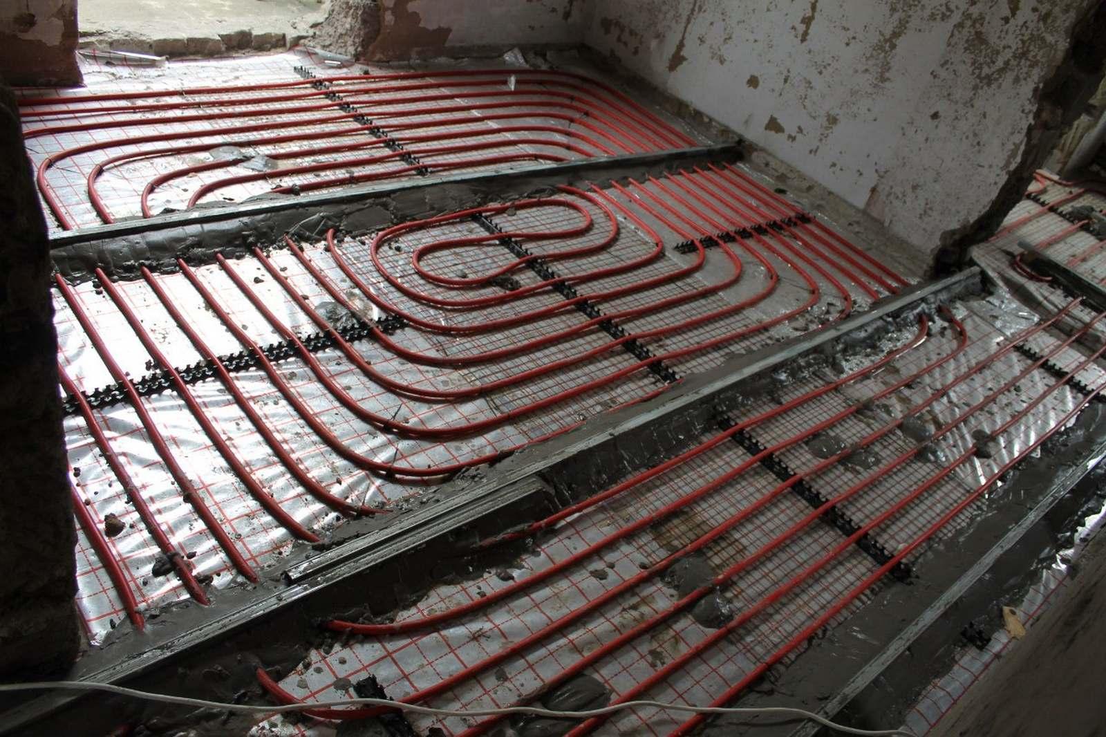 Монтаж водяного теплого пола из сшитого полиэтилена