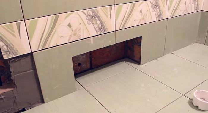 зазор между стеной и бортиками ванны фото