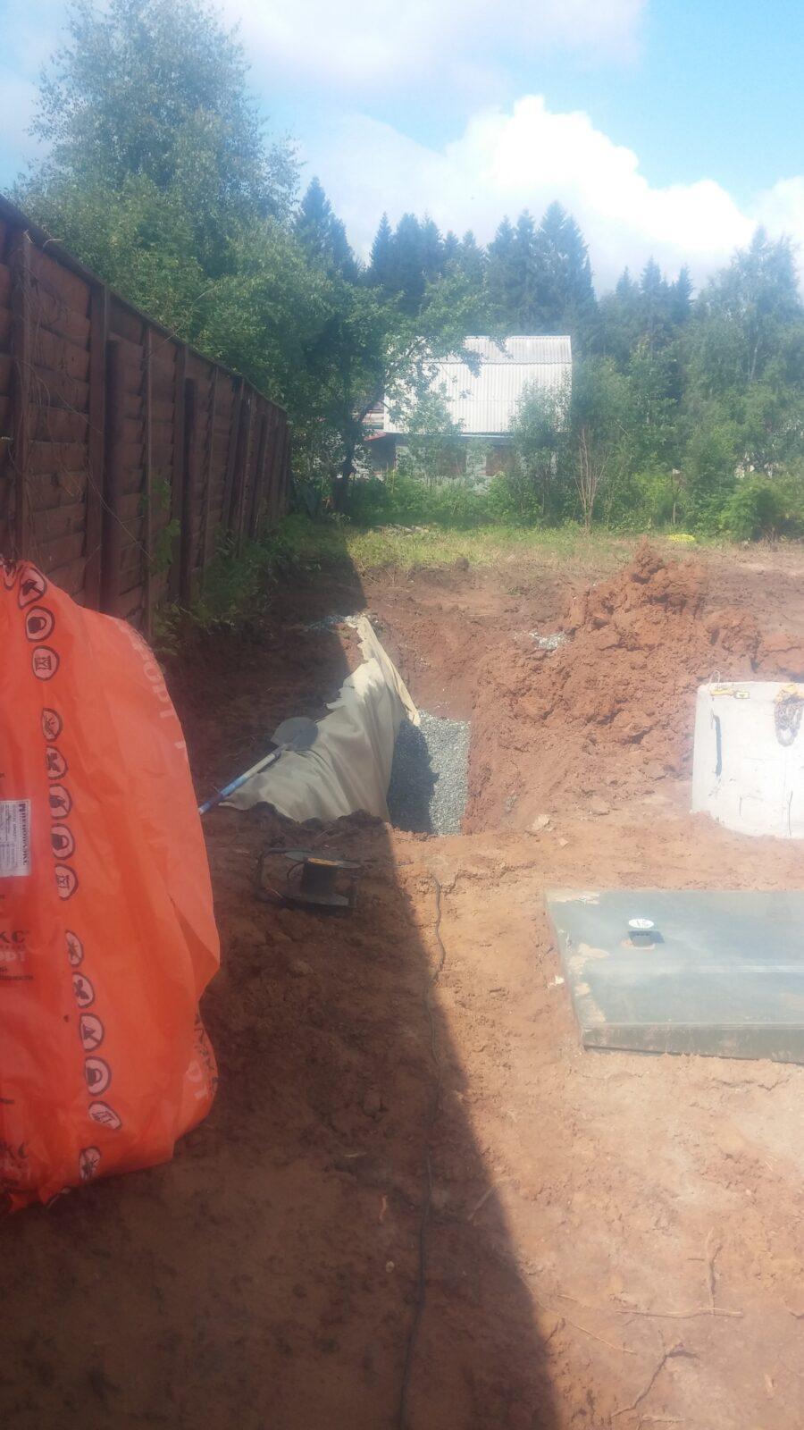 Дренаж канализации: септик Топас