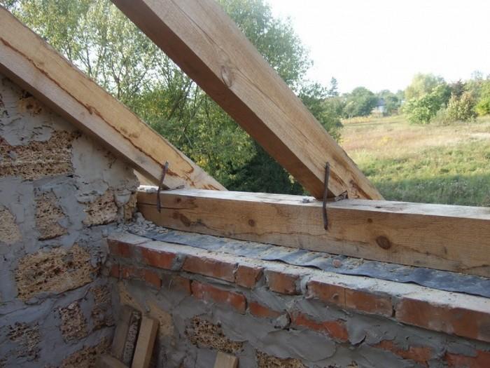 как сделать двухскатную крышу без мауэрлата своими руками видео
