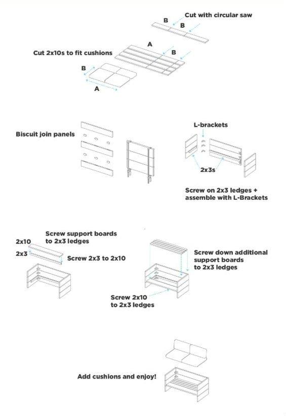схема дивана