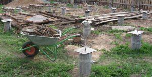 Столбчатый фундамент сделанный своими руками