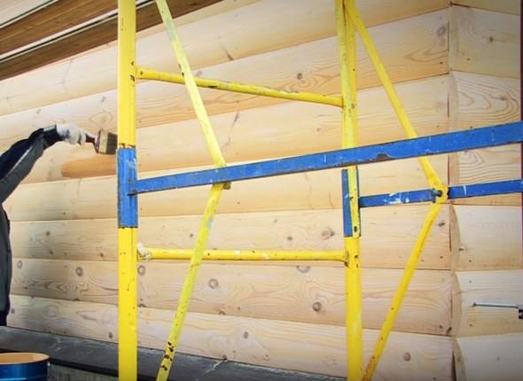 установка лесов для покраски стен