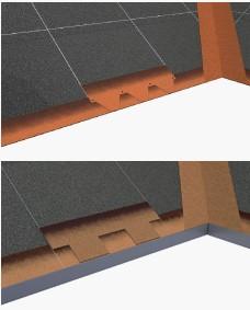 треугольные и прямоугольные лепестки у карниза