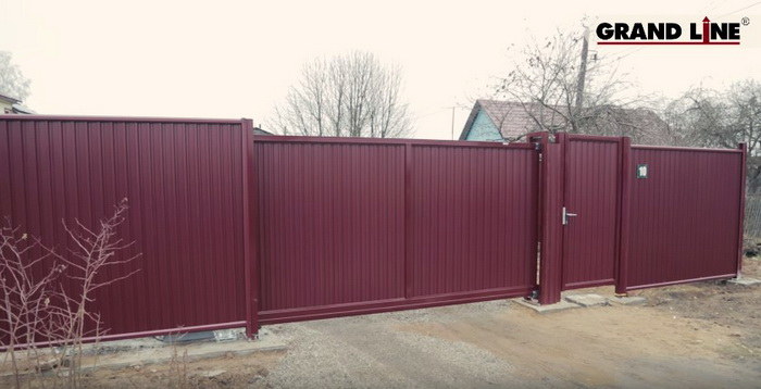 Как установить откатные ворота