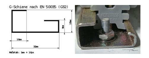 din-рейка металлическая тн 35/7.5 длиной 1000 мм