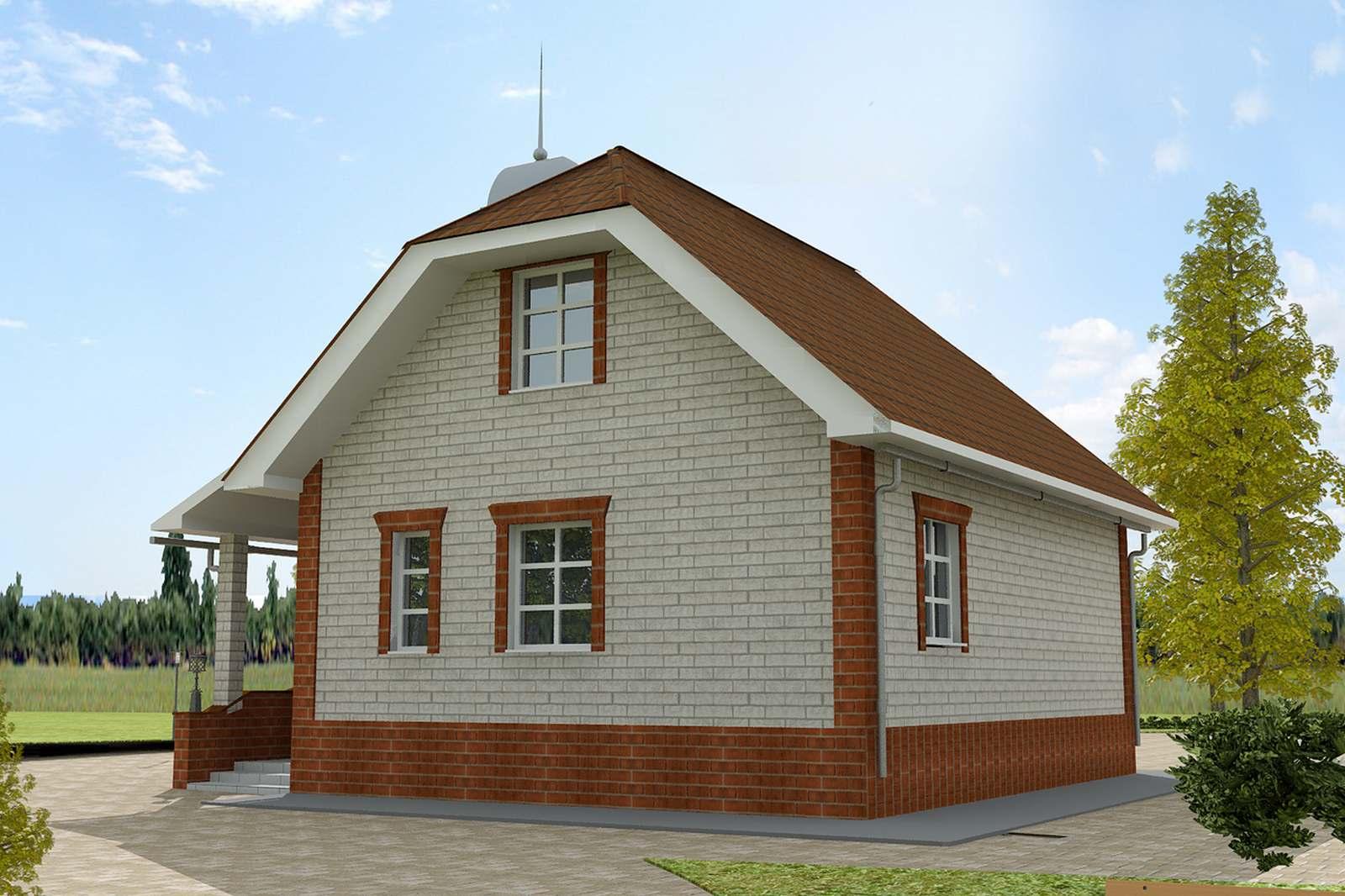 Проект дома ПО-03-195 фасад