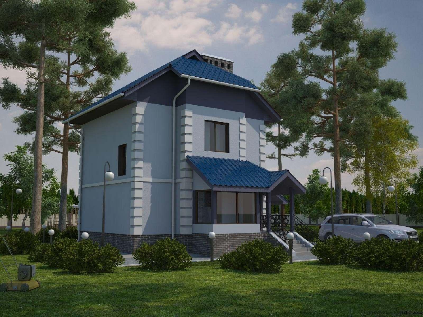 Проект дома из ячеистого бетона